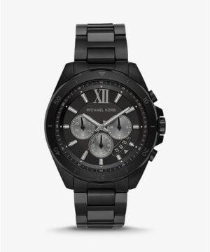 Oversized Brecken Black-Tone Watch