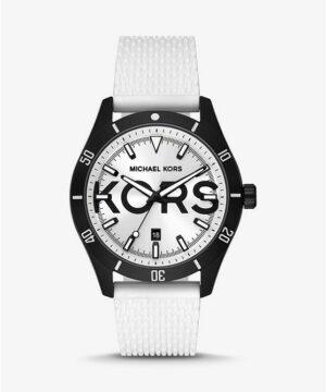 Oversized Layton Black-Tone and Silicone Watch