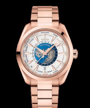 Omega 同軸擒縱43毫米大師天文台世界時區腕錶